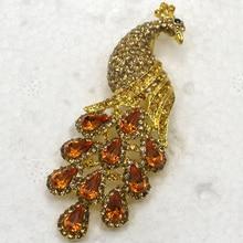 Wedding party jewelry brooch Rhinestone Peacock Pin brooches C250 K2
