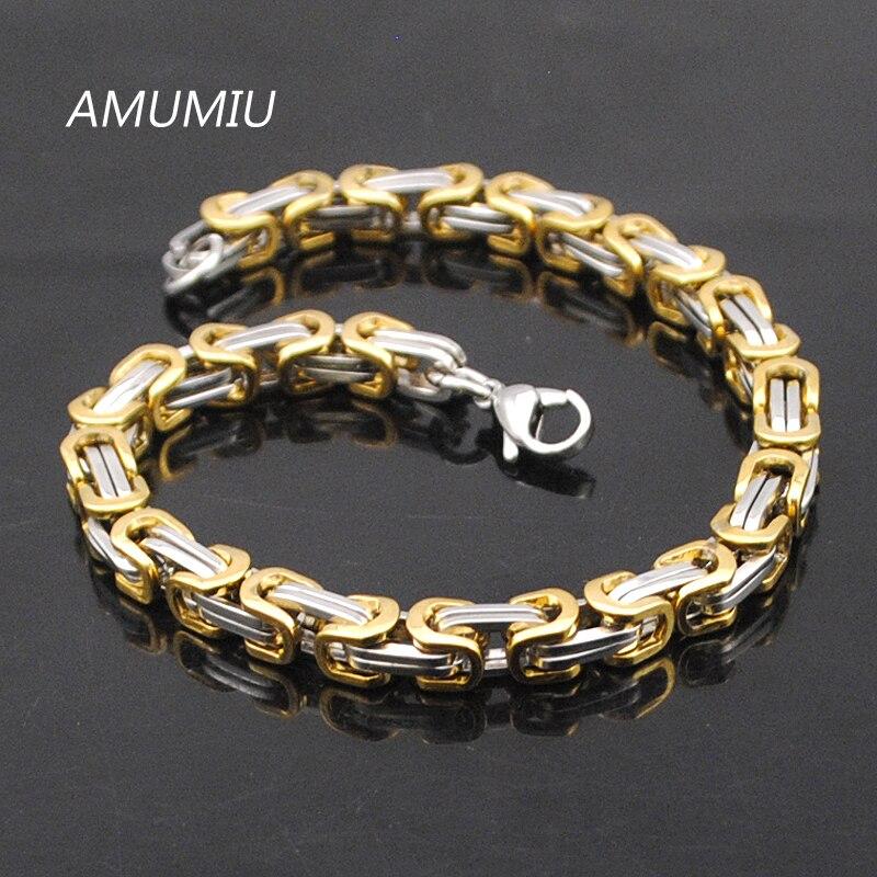 Προώθηση AMUMIU! Ανδρικά βραχιόλια χρυσό - Κοσμήματα μόδας - Φωτογραφία 2