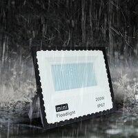 10 pçs/lote Levou Holofote Ac85-265v 50w 100w 150w 200w Refletor Led de Luz de Inundação À Prova D' Água Ip67 Holofotes parede de Iluminação Ao Ar Livre