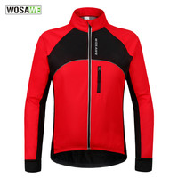 WOSAWE Water resistant motorcycle Jacket Winter Thermal Warm riding Clothing Bicycle Long Sleeve Jacket Windproof Coat