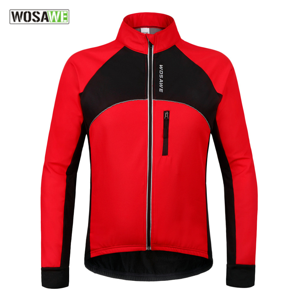 WOSAWE Water-resistant motorcycle Jacket Winter Thermal Warm riding Clothing Bicycle Long Sleeve Jacket Windproof Coat цена