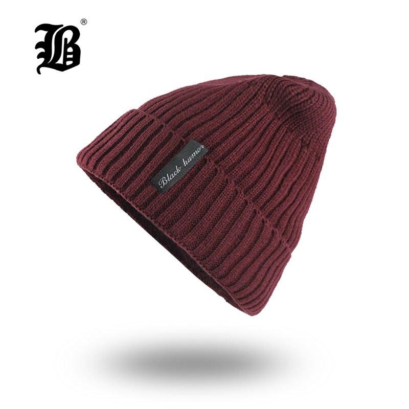 [FLB] Winter   Beanie   Hat   skullies     beanies   Soft Skull Warm Baggy Cap Mask Gorros Winter Hats For Men Women Knitted Hat F18006