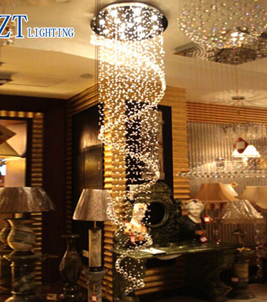 T Luxury Circular Spiral Crystal Ceiling Light GU10 LED Bulbs Modern Creative Indoor Lighting Penthouse Floor Hall Stairs Light бра n light 570 4n slv