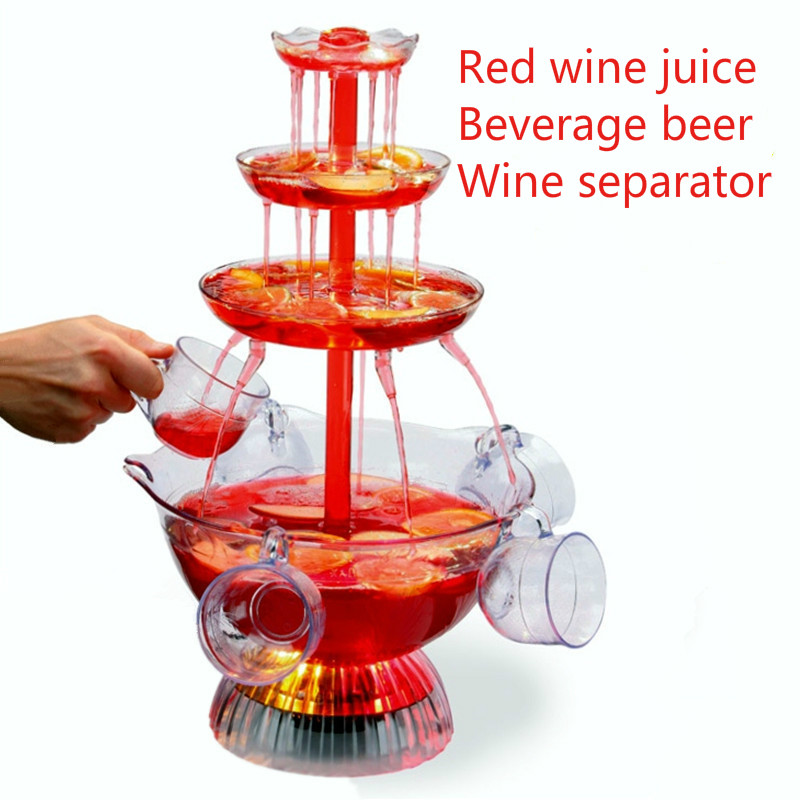 Red wine Fountain machine fruit juice Drink beer Waterfall machine Hotel Wedding Ceremony Water bar get together Wine separator cd 112 cold drink dispenser for juice coffee soft drink in hotel restaurant bar and convenience store
