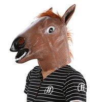 OCDAY Animal Engraçado Cosplay Halloween máscara de Cabeça Cheia Máscara de Látex Cavalo Romance Brinquedos animais DO JARDIM ZOOLÓGICO de Costume Party Prop Prop Novidade Latex brinquedos