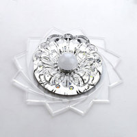 20cm 3W Surface Flush Mounted City Crystal LED Ceiling Light Fixture Lamp