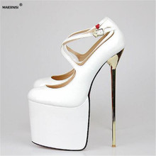 22cm Ultra high thin crossdressing heels Plus size