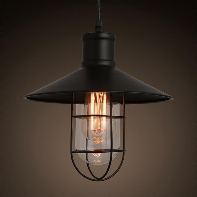 american schuur loft industriële e27 hanglamp bronzen kleur vintage ...