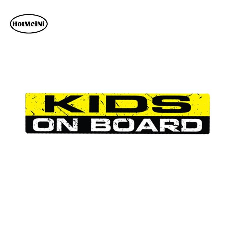HotMeiNi автомобилей для укладки Стикеры дети на борту Смешные Стикеры наклейка безопасности детей бампер окно предупреждающий знак JDM VW 15x3 см