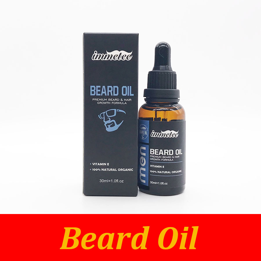 30ml 100% Natural Soften Beard Care Oil Hair Growth Nourishing Oil