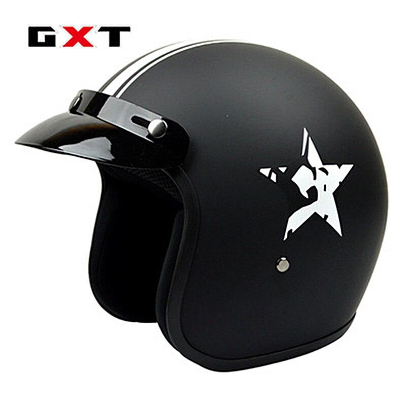 GXT Half Open Face Motorcycle Fiberglass Helmet Retro Casco De Moto Racing Sport Headgear Vintage Head Harley Motorbike Helmets цена