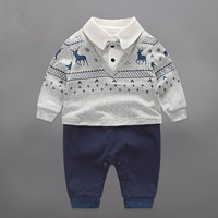 100 Cotton Baby Girl Jumpsuit Toddler Gentleman Longsleeve Rompers Newborn One Piece Bow Or Tie Baby