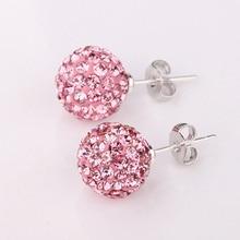 Women Luxury Jewelry Bling Fashion Ear Studs Eardrop Long Stick Ball Earings