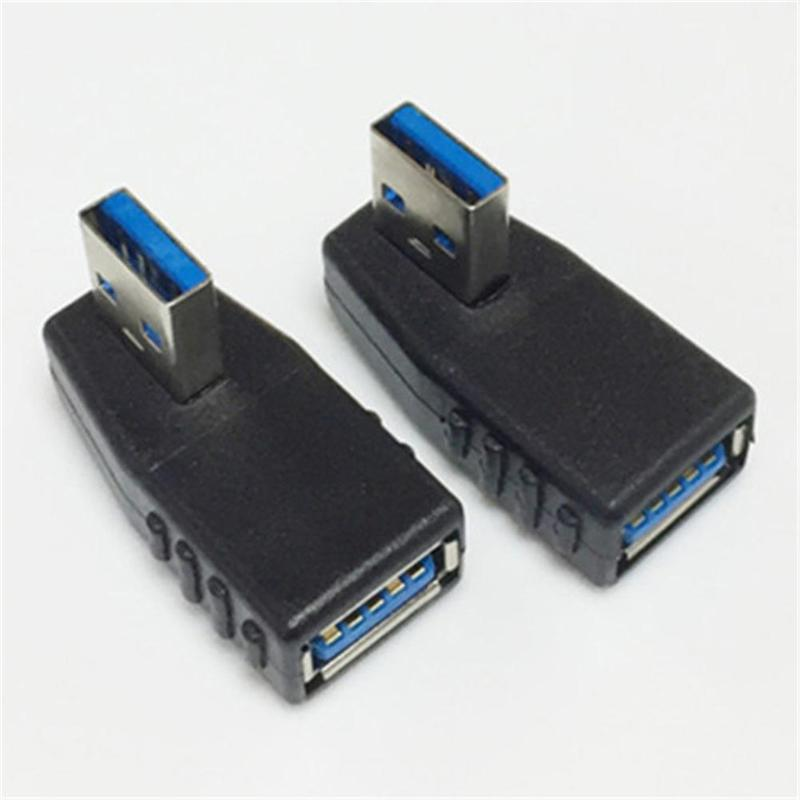 90Degree USB 3.0 A Male To Female Adapter Connector Angle Extension Extender