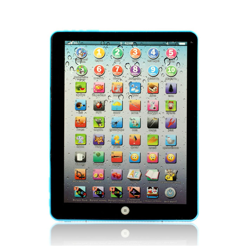 1PC Russian Computer Learning Education Machine Tablet Toy Gift For Kids Levert Dropship A8061