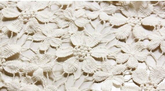 Baumwolle spitze stoff mit daisy muster, häkelspitze stoff für ...