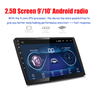 9'/10'2 din android 2.5D car radio Android 8.1 universal Car Radio DVD Player GPS NAVIGATION WIFI Bluetooth MP5 Player Rear CAM