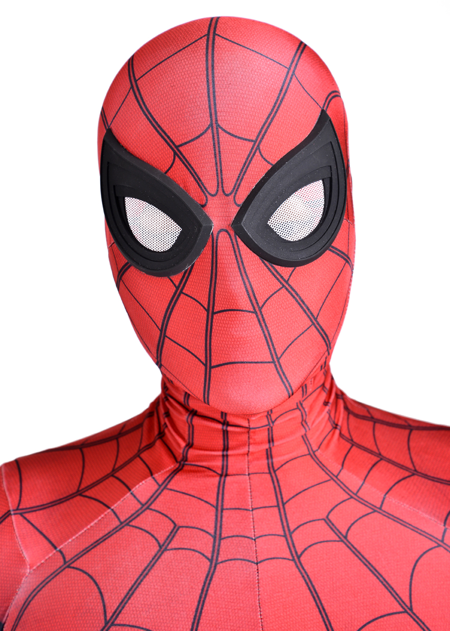 newest homecoming spiderman costume 3D print spandex fullbody halloween cosplay spider superhero suit free shipping