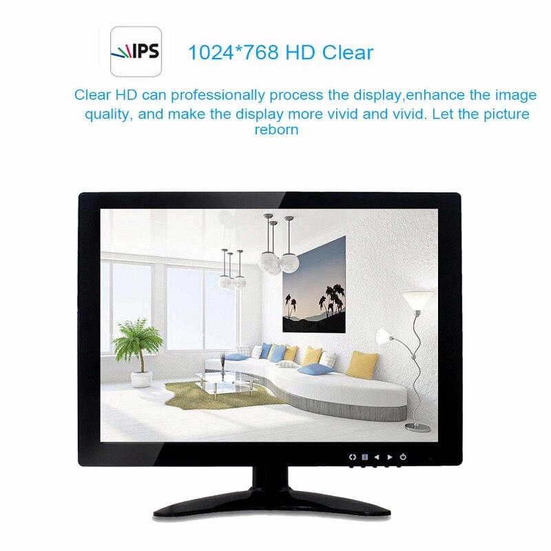 IMPORX 13 pouces TFT LCD moniteur 720 P avec VGA HDMI AV BNC USB pour PC CCTV caméra de sécurité Portable HDMI PS4 ordinateur jeu moniteur