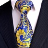 Paisley Floral Fuchsia Red Yellow Navy Blue Azure Multicolor Mens Tie Sets Neckties Hanky 100 Silk