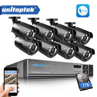 8CH 1080P 48V POE NVR CCTV System Outdoor Waterproof 1 0MP 720P Bullet IP Camera Outdoor