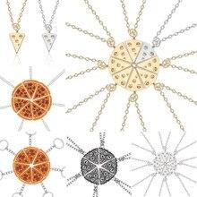 Collier pendentif Pizza Best friends Forever pour femmes, Triangle de mode, bijoux d'amitié, cadeaux pour amis