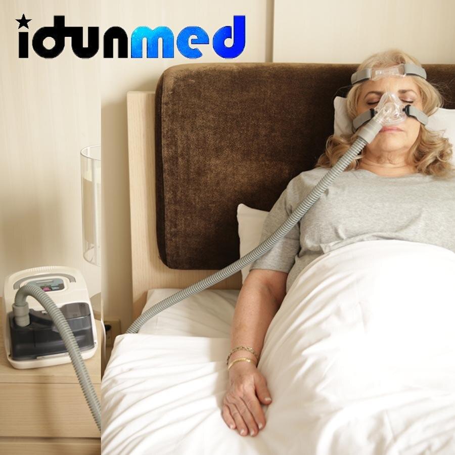 CPAP mascarilla Nasal NM2 con correa ajustable para la cabeza aparato de respiración soporte máquinas CPAP sueño Apnea terapia tapón para ronquido - 6