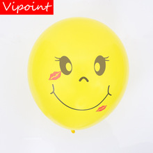 VIPOINT PARTY 100pcs 12inch yellow smile latex balloons wedding event christmas halloween festival birthday party HY-386