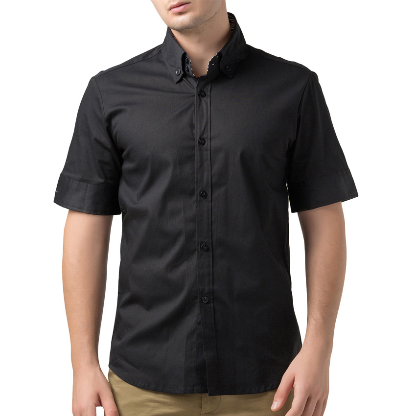 2016 brand mens dress shirts short sleeve casual shirt men for Mens dress shirt sleeve length
