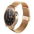 Aço inoxidável bluetooth 4.0 smart watch k8 para apple iphone huawei android ios ips tela redonda monitor de freqüência cardíaca smartwatch