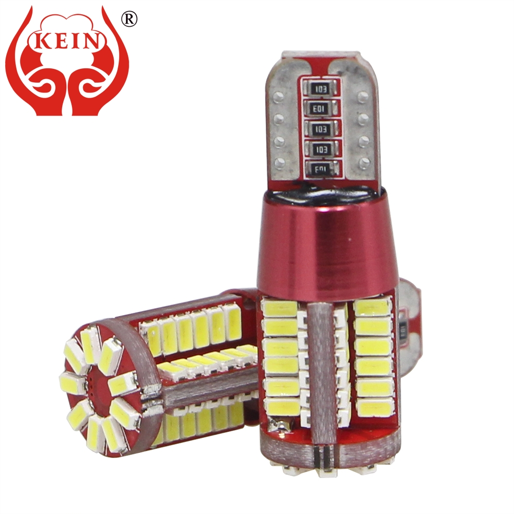 KEIN 2PCS W5W Led T10 Car Bulb 3014 57smd Side Wedge Interior Reading Auto Car Styling Nonpolarity Signal Lamp Light 12V 194 168