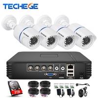 Techege 4CH AHD DVR 1080p HDMI AHD 1280 720 1200TVL AHD Cam Weatherproof CCTV Camera Security