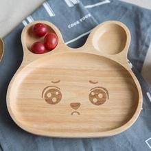 Креативный маленький мультяшный кролик, поднос для закусок, деревянная детская посуда, деревянная тарелка, деревянный поднос, MFT005