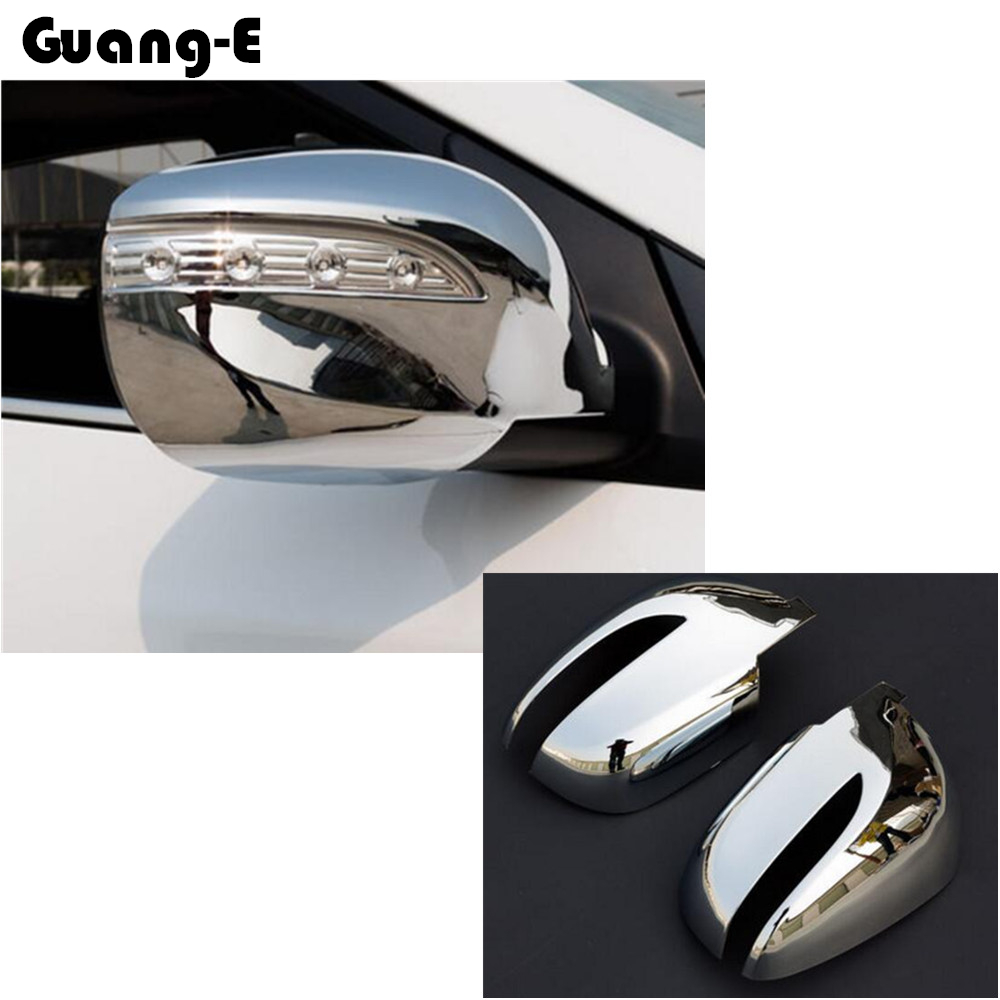 For Hyundai IX35 2010 2011 2012 ABS chrome decoration Car body stick rear view Rearview Side glass Mirror Cover trim frame 2pcs
