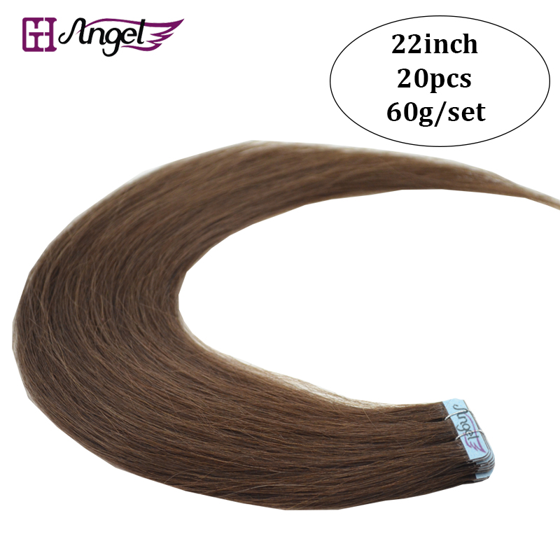 Online get cheap real hair extensions price aliexpress 22inches 55cm 60gram factory price dark browntape in soft 100 real remy hair extensions straight hair 20pcsset pmusecretfo Choice Image