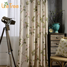 Elegant Peony Printed Modern Blackout Curtains For Bedroom Living Room Window Drapes Balcony Curtain Custom Made