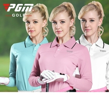 Brand PGM. Ladies Golf Sexy T-Shirts, Women Long-sleeve Sexy Sports Apparel. Women Workout Polo Shirt, Fitness Gym Sport Dri-Fit