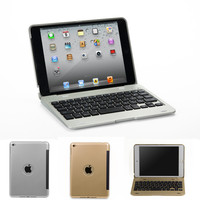 Folding Laptop Design Wireless Bluetooth Keyboard Foldable Stand Case For IPad Mini 1 2 3 4