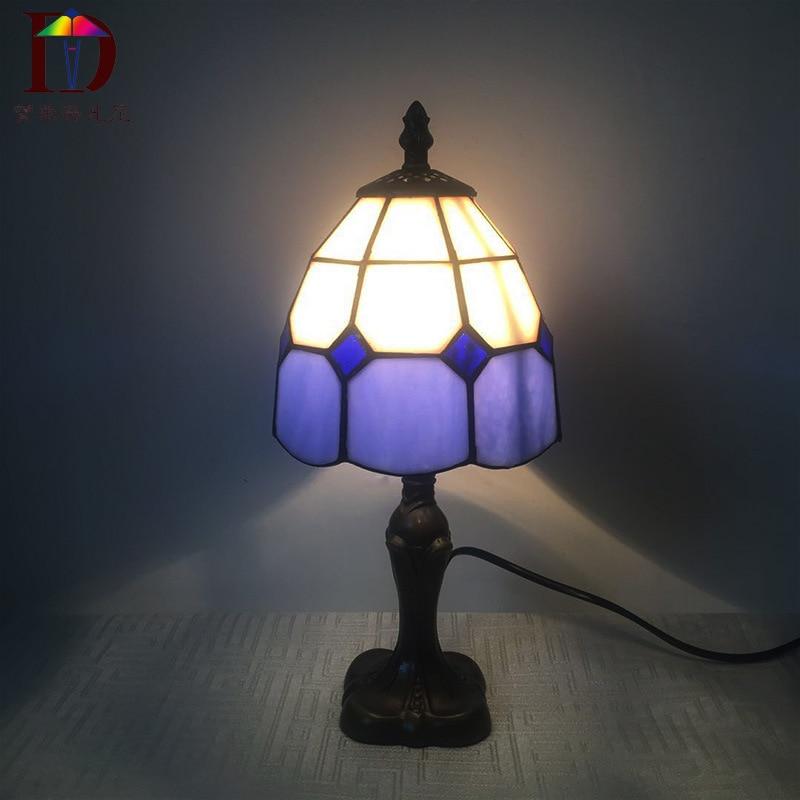 Tiffany Kleine Tisch Lampe Land Sunflower Glasmalerei Nacht Lampe E27 110 240V-in Tischlampen aus Licht & Beleuchtung bei Shop4405058 Store