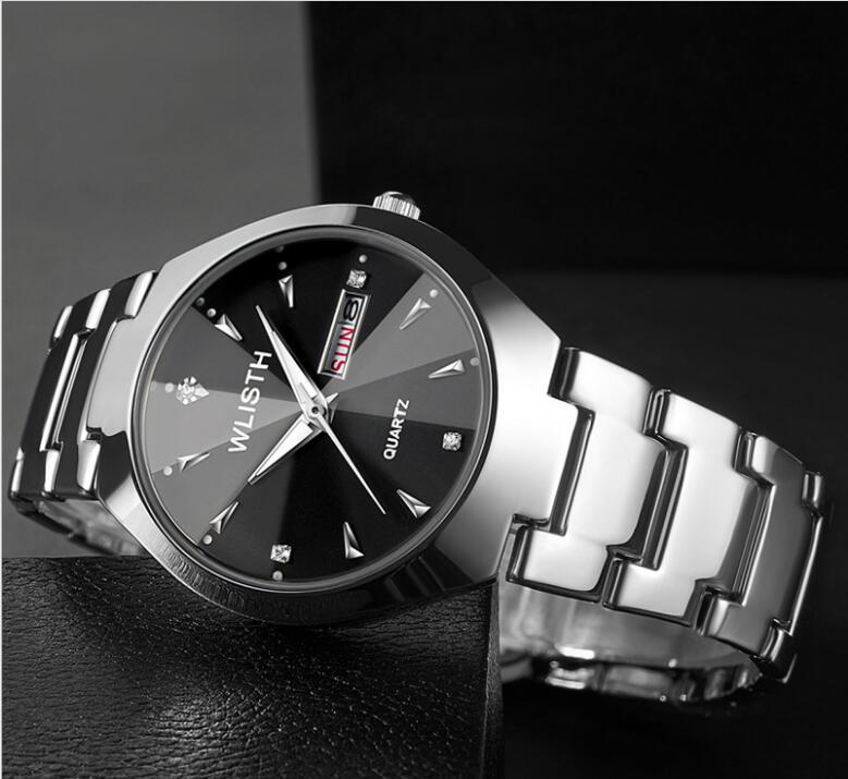 lovers Watch Fashion Waterproof Double Calendar Quartz Watch Business Top Brand Men Women Watch