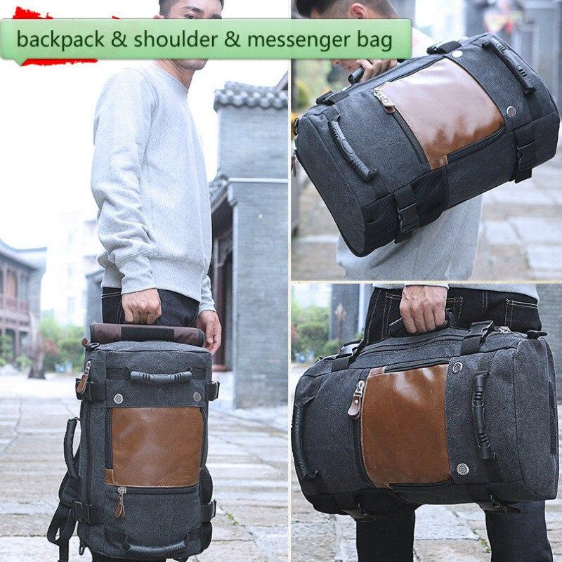 Big Travel Bag Large Capacity Men Hand Luggage Canvas Out Purse Weekend Duffle Multifunction Shoulder Messenger