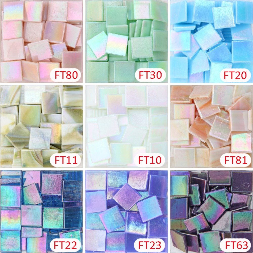 Vitreous Glass Mosaic Tiles 20mm Mandarin