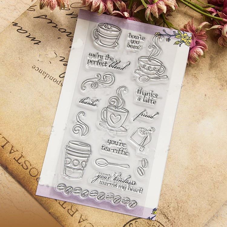 tea &coffee scrapbook DIY farm sellos carimbo ACRYLIC clear STAMPS FOR PHOTO timbri SCRAPBOOKING stamp scrapbook leaf 14 18cm acrylic clear stamps for photo timbri sellos silicona scrapbooking stamps for teachers