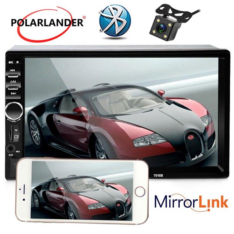 Écran tactile Bluetooth De Voiture Radio stéréo USB SD AUX IN FM vidéo MP4 MP5 Lecteur soutenir caméra de Vue Arrière Caméra Miroir lien Pour Andriod