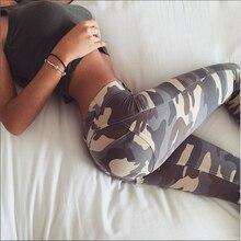 Seksi Egzersiz Legging Yüksek Bel Elastik ince pantolon Kadın Spor Serseri Pantolon Kamuflaj Baskılı Spor Rahat Pantolon