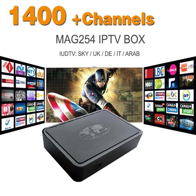 Mag 254 Sistema Linux 250 Europa Iptv Árabe Cuenta Sky REINO UNIDO DE LO Potugal Indio IPTV Set Top Box HD 1080 p Mag 254 IPTV receptor