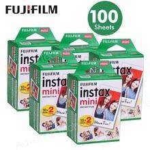 100 Arkusze folii do Fuji Fujifilm Instax Mini 8 7 s 9 70 25 50 s 90 Natychmiastowa Aparat Fotograficzny Biały FilmShare SP-1 SP-2