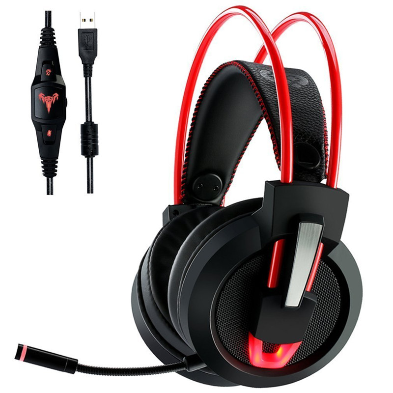 USB Gaming Headphones casque ihens5 7.1 Surround Sound Channel USB Game Headset with Microphone LED Lights for Computer PC Gamer each g8200 gaming headphone 7 1 surround usb vibration game headset headband earphone with mic led light for fone pc gamer ps4