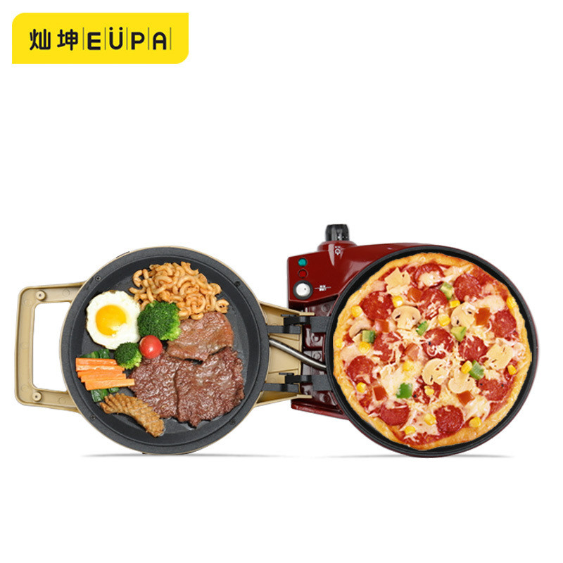 220V Multifunction Crepe Maker Pizza Maker Double-Side Household Flapjack Machine Breakfast Sandwich Maker Electric Baking Pan