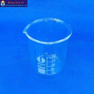 Image 2 - (12 unids/lote) Vaso de vidrio de 50 ml, suministros de laboratorio, vaso de laboratorio, vaso de calidad, boro alto material